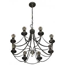 Small Black Chandelier Secondhand Hotel Furniture Lighting