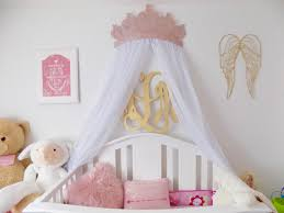 Crib Canopy Crown by Crown Canopy Wall Decor In Rose Gold With Sheers
