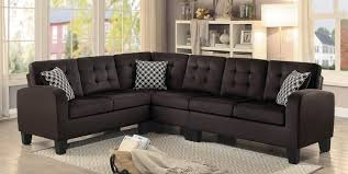Reversible Sectional Sofas by Homelegance Sinclair Reversible Sectional Sofa Chocolate Fabric