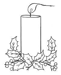 christmas candle light christmas coloring christmas