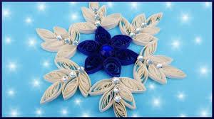 diy 2d quilling xmas papier schneeflocke weihnachten paper