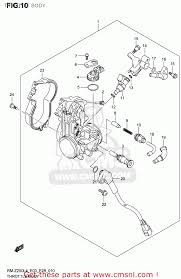 suzuki rm z250 2014 l4 usa e03 rmz250 rm z250 throttle body