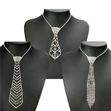 tie necklace images Fashion sexy women lady rhinestone crystal bling bow tie necktie jpg