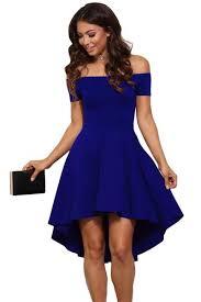 blue dress the shoulder gorgeous blue slim fitting skater dress