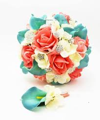 Coral Boutonniere Brooch Bouquet U2013 Songs From The Garden