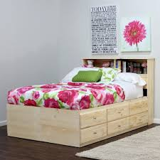 furniture home queen size storage bed with bookcase headboard
