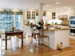 Country French Kitchens Decorating Idea Traditional Home Interior Kitchen Design With Pecan U Shape Wooden