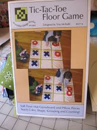 Floor Games by Hopeful Threads Pattern Review Tic Tac Toe Floor Game