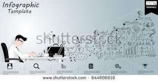 design idea vector businessman think work on table stock vector 644606818
