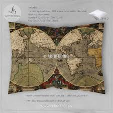 World Map Hemispheres by Mandala Bedding Personalized Bohemian U0026 Mandala Bedding Sets