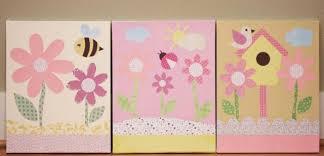 toile pour chambre bébé déco tableaux chambre bébé fille idées décoration tableau