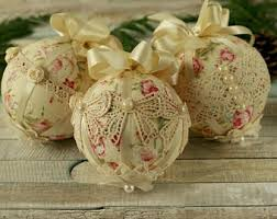 romantic chenille cat ornaments shabby chic christmas