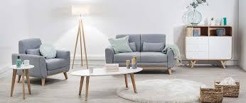fauteuil design tissu fauteuil design tissu gris pieds chêne ektor miliboo