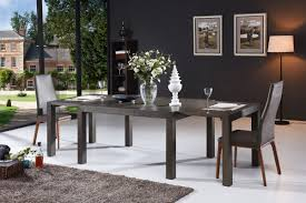Modern Extendable Dining Table Galant Modern Grey Oak Extendable Dining Table