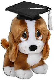 dog graduation cap and gown cuddly collectibles plush graduation stuffed animal basset hound