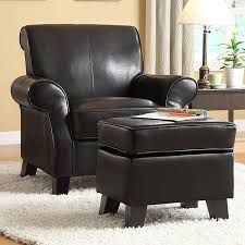 black leather chair and ottoman set interior design ideas