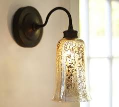 pottery barn lighting sconces brantley antique mercury glass sconce pottery barn 215