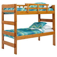 Wooden Bunk Beds Woodcrest Heartland Extra Tall Stacking Twin Over Twin Bunk Bed