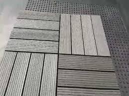 abba patio 12 x 12 inch outdoor four slat composite interlocking