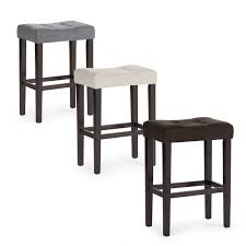 Pub Bar Stools by Bar Stools Wooden Framed Cream Upholstered Counter Stools