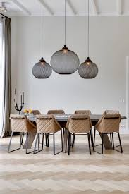 Enticing Dining Area Dramatic Pendant Lights Great With A Full Height Ceiling