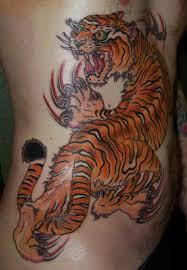 cute color ink tiger tattoo on back tiger pinterest tiger