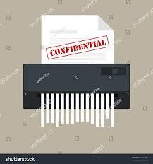 paper shredder confidential icon private document stock vector