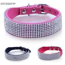 dog necklace leather images Sydzsw luxury diamond dog necklace leather pet collar for dogs jpg