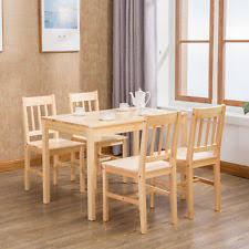 wood dining set ebay