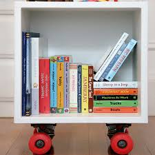 Bookcase For Kids Room by Diy Bookshelf Cubby On Wheels Great For Big Size Kids Books That
