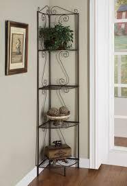 furniture wrought iron corner showcase designs for living room