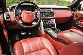 land rover autobiography red interior 2015 land rover range rover range rover autobiography stock