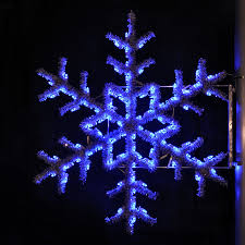 Christmas Decorations Outdoor by Shop Holiday Lighting Specialists 5 Ft Garland Snowflake Pole