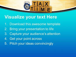 pay your tax on time powerpoint templates ppt backgrounds for