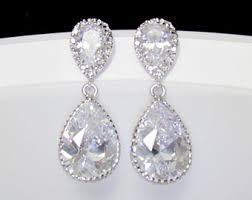 drop earrings wedding beautiful wedding drop earrings sheriffjimonline