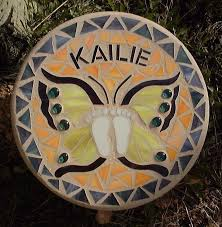 memorial stepping stones made butterfly mosaic memorial stepping by mountin
