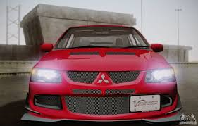 mitsubishi evo 8 red mitsubishi lancer evolution viii mr edition for gta san andreas