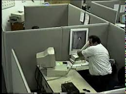 Cubicle Meme - bad day man destroys computer youtube