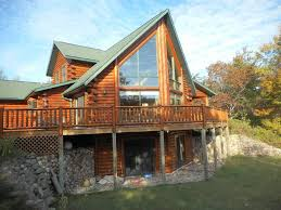 this stunning golden eagle log home is situated on a very pr