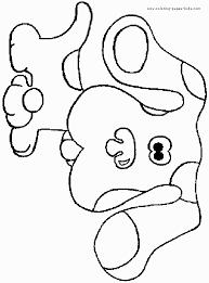 13 coloring pages blues clues print color craft