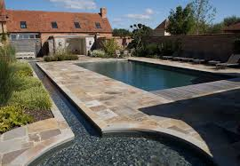 Swimming Pool In Backyard by In Ground Swimming Pool Concrete Mosaic Outdoor