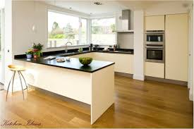 kitchen appealing black countertop and wooden furniture kitchen