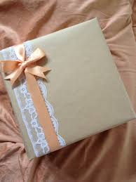 gift wrap idea bebe u0027 love the lace and satin ribbon and bow