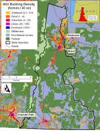 Map Of Oregon State University by Building Density Forests People Fire Interactions Dynamics