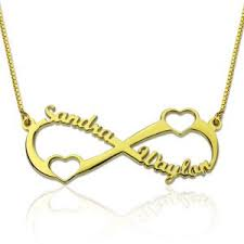 Double Plated Name Necklace Custom Infinity Symbol Necklace