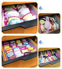 Underwear Organizer Socks Underwear Tie Drawer Bra Panty Organizer Divider Storage