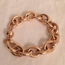rose gold link bracelet images Milor rose gold bronze over silver large chunky chain link jpg