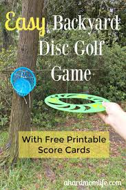easy backyard disc golf game for the whole family a hard mom life