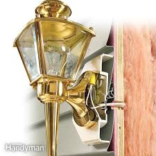 Wall Sconce Installation Vinyl Siding Lights How To Mount Lights Using A Vinyl Mounting