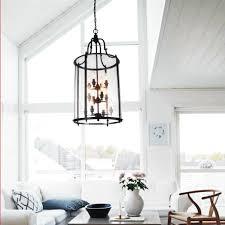 round chandelier light glass round oversized lantern chandeliers with black metal frame